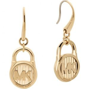 Michael Kors Logo Padlock Drop Earrings!! Nwt!!